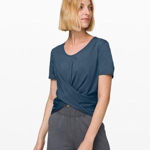 Lululemon Do the Daily blue short sleeve